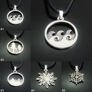 9e20f57f48000 Details about Environment/ Season Silver Tone Pendant Necklace mens ladies  jewellery UK SELLER