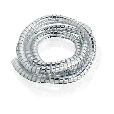 CUSTOM ACCES Funda en espiral cromada para sujetar cables 6mmX1,5m