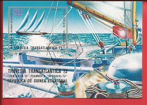 Briefmarken Transatlantik Segelregatta Segeln Block 54 Äquatorialguinea Neue Sorten Werden Nacheinander Vorgestellt