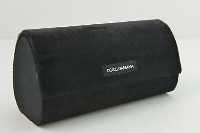 "Dolce/&Gabbana New Authentic Eyeglass Case in Black Large Corduroy 6.75/""x 2.70/""W"