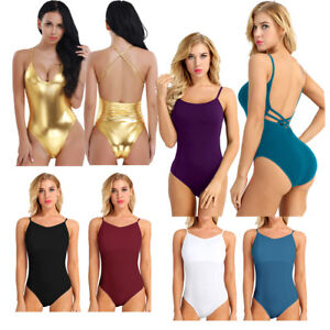 e3a139aa83eb Women Ballet Contemporary Lyrical Leotard Unitar Bodysuit Dancewear ...