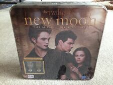 New Moon Twilight family trivia board game Metal Tin - collectible crest pieces