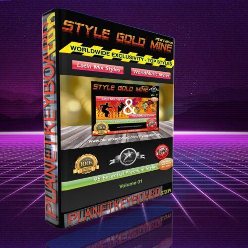98 NEU SUPER STYLES LATIN /& WORLD MUSIC KETRON SD3 SD5 SD8 MIDJAY NEW EDITION