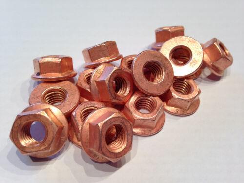 5 Stück Auspuffmutter Kupfermutter M8 Turbomutter Aufdrehmoment reduziert