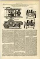 1874 Stephens Winding Engine Uskside Ironworks Newport Screw Propulsion