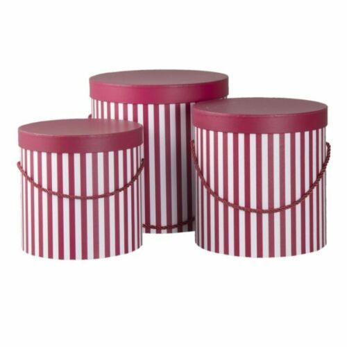 3 Hutschachteln Set Box Aufbewahrung Wäsche Briefe Deko Shabby rot Clayre /& Eef