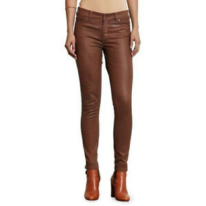 Details Brown Coated About Lauren 0 Nwt Ankle Sze Skinny Pants Polo Premier Jean Ralph Women's QordBWCex