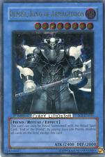 YU-GI-OH DEMISE, KING OF ARMAGEDDON 1ST ED ULTIMATE RARE USED SOI-EN035