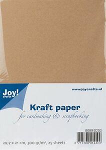 Kraft-Paper-Cardstock-Tonkarton-Bastelkarton-A4-300g-m-25-Stueck-27916