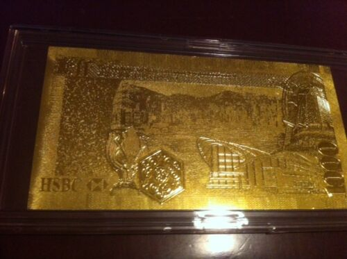 24 K GOLD 500 EURO.-European Union MONEY 2002 *GIFT BILL COMES IN ACRYLIC HOLDER