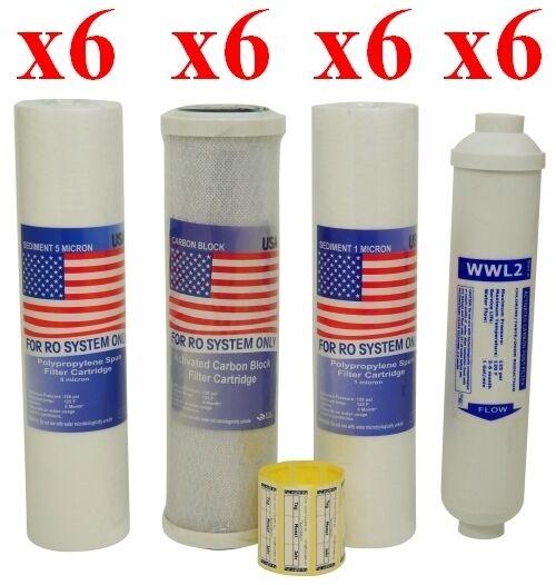 24 Ersatzfilter - RO 5 - Osmoseanlage- 3 Jahres SET Kartuschen,