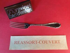 Fork-Desserts-17-cm-Ribbons-Crossed-Ravinet-Very-Bel-Condition-Metal-Silver