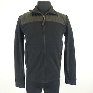 Prada Black Fleece Zip Up Coat Size Medium - Art. SJL87