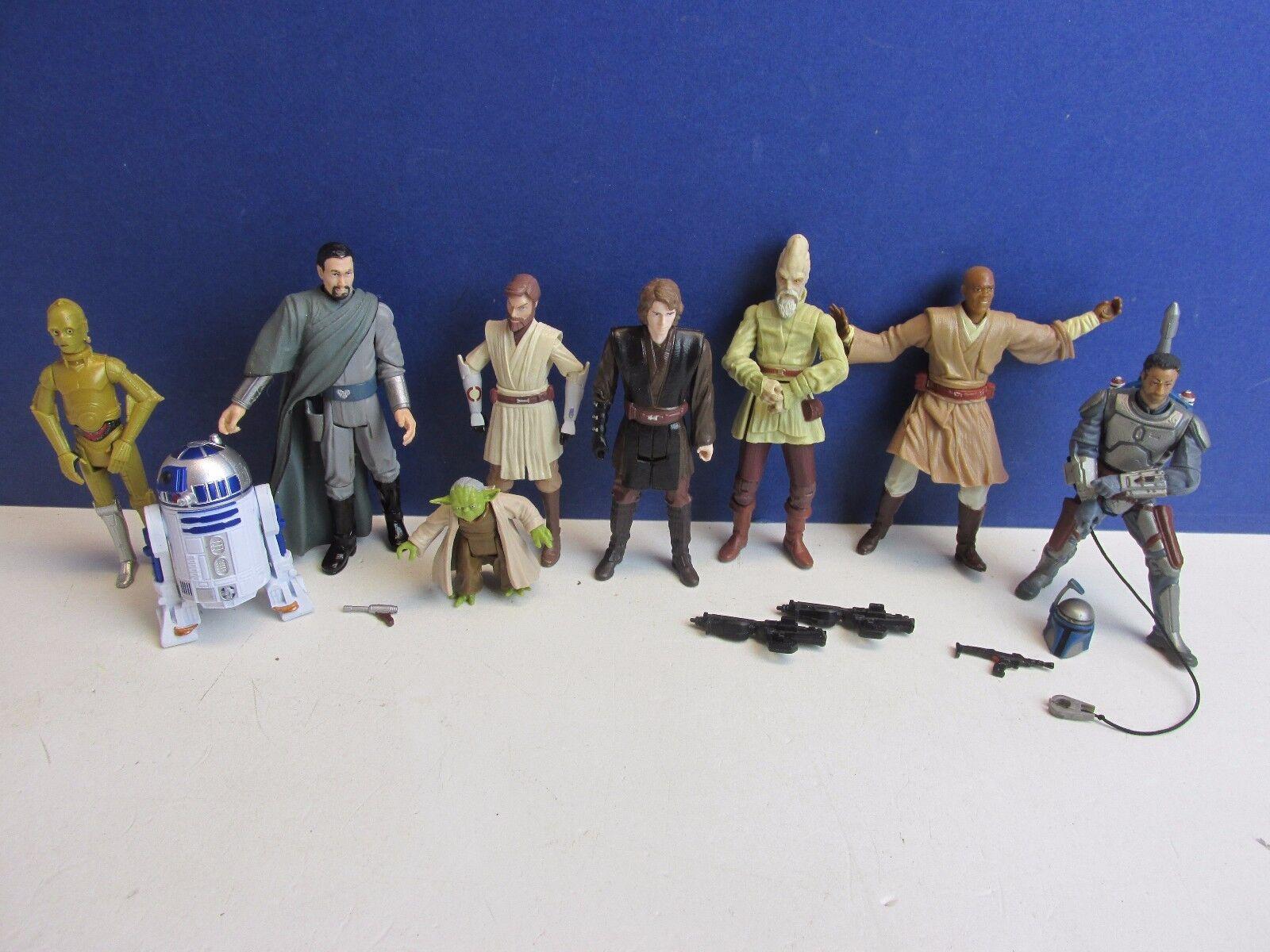 Star wars jedi - action - figur yoda windu organa jango fett anakin klonkriegen l