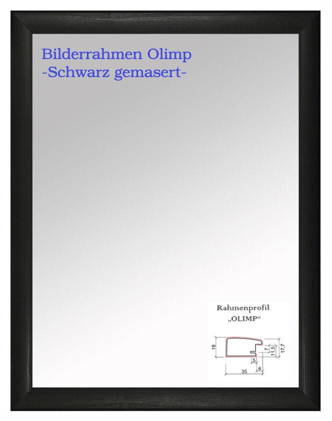 B-1 Bilderrahmen Gemasert    - Antireflex ab DIN A0 bis DIN A6 Foto Rahmen Neu   Gutes Design  9f8363