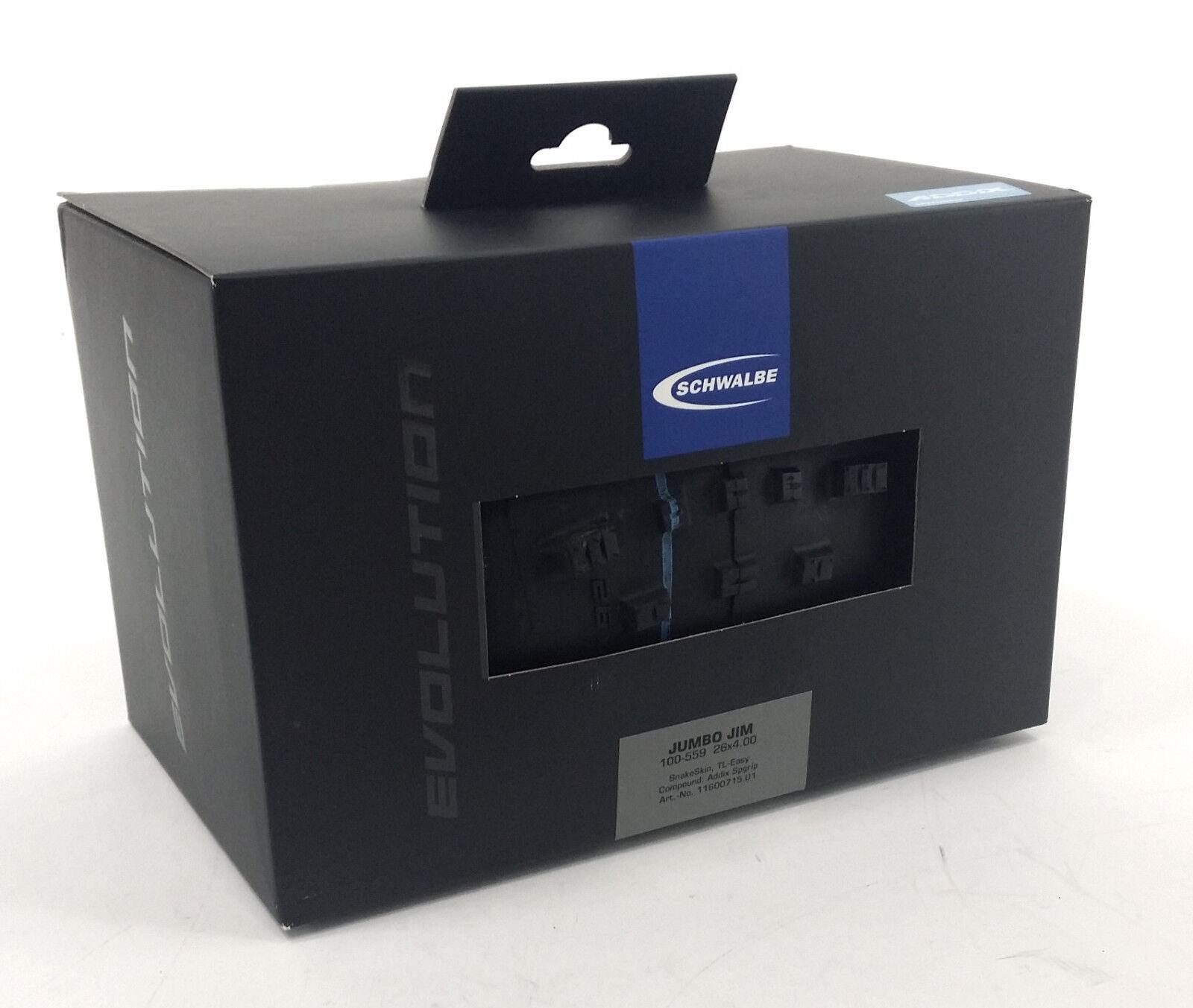 Schwalbe Jumbo Jim Piel De Serpiente Evo 26  X 4.0  neumático con Addix Speedgrip compuesto