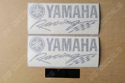 2x Yamaha Racing Logo Premium Cast Fairing Decals Stickers YZF R1 R3 R6 FZ MT 09