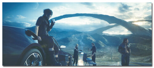 Final Fantasy XV Game Art Silk Fabric Poster 14x33 inches 001