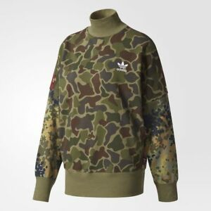 sale retailer 70667 3a6fc Image is loading Adidas-Womens-Pharrell-Williams-Hu-Hiking-Camo-Sweater-
