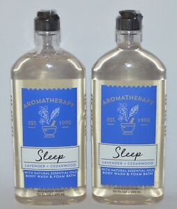 2-BATH-amp-BODY-WORKS-AROMATHERAPY-SLEEP-LAVENDER-CEDARWOOD-WASH-SHOWER-GEL-FOAM
