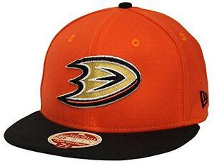 56c9e7481c0 New Era NHL Anaheim Ducks Orange Black 59Fifty Wool Standard Fitted ...