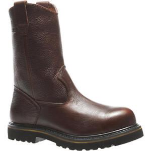 Wolverine-Men-039-s-10-034-Steel-Toe-Wellington-Work-Boot-cowboy-farm-ranch-western