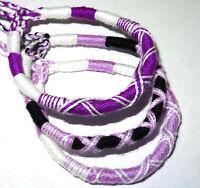 Lot de 3 Bracelet brésilien Amitié coton Friendship Macramé Porte Bonheur violet