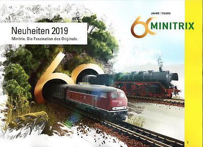 """"""" 60 Anni/years Minitrix"""" - Catalogo Novità 2019 Solo Per N M. Indicazioni Di Prezzo!-mostra Il Titolo Originale"""
