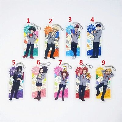 Banpresto My Hero Academia Anime Rubber Strap Keychain Bag Charm Todoroki Bakugo