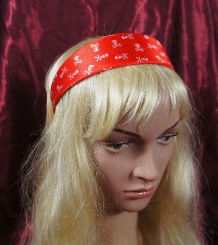 Femmes//Filles Scintillant Rouge Marron Blanc tete de mort morts têtes crâne rock and roll