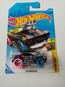 2018-Hot-Wheels-039-69-Camaro-Z28-HW-Arte-Cars-Mattel-9-10-nuevo-tarjeta-de-largo