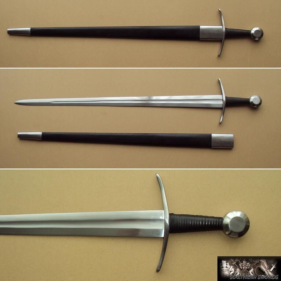Late Medieval or Viking One Handed Sword with Hand Made High Carbon Steel Blade