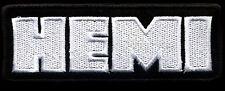 Hemi Patch Automotive Hot Rod Drag Race Classic Car Mopar Dodge black