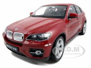 2011 2012 Bmw X6 Red 1 18 Diecast Model Car By Welly 18031