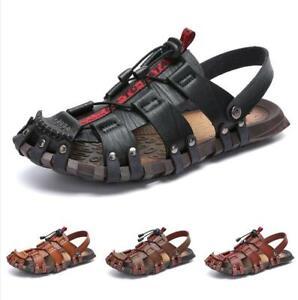 Sandals Shoes Men Close Toe Trail Beach Slingbacks Sand Comfort Flats Summer New