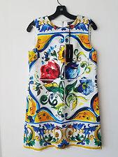 Dolce & Gabbana Sleeveless Maiolica Floral-Print Shift Dress Size 40IT/6US