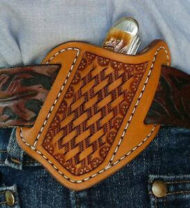 Small-Leather-Cross-Draw-Pocket-Knife-Sheath-Ruff-s-Saddle-Shop-Tan
