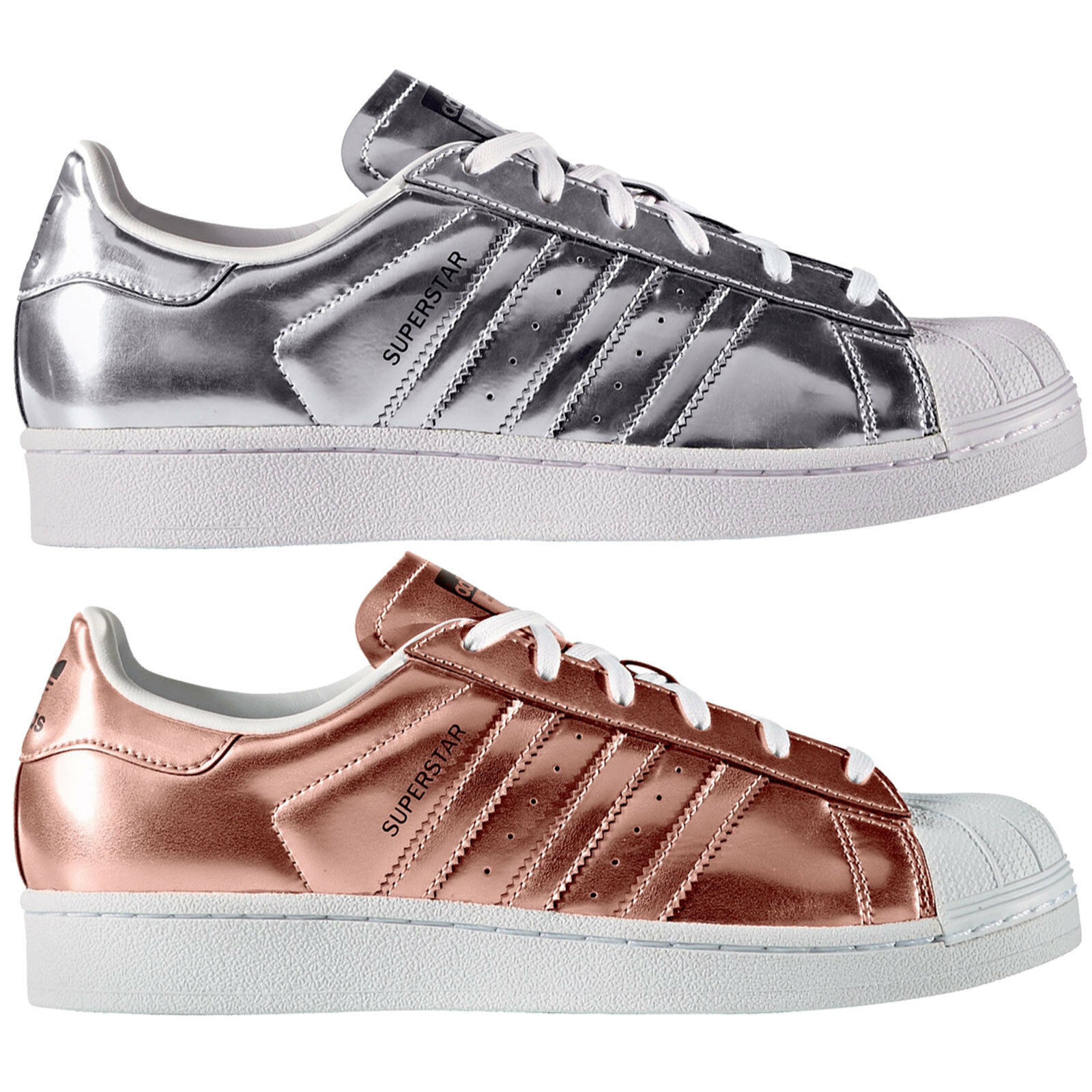 Adidas Originals Superstar W Femmes-baskets Metallic Cuivre Argent Baskets NEUF