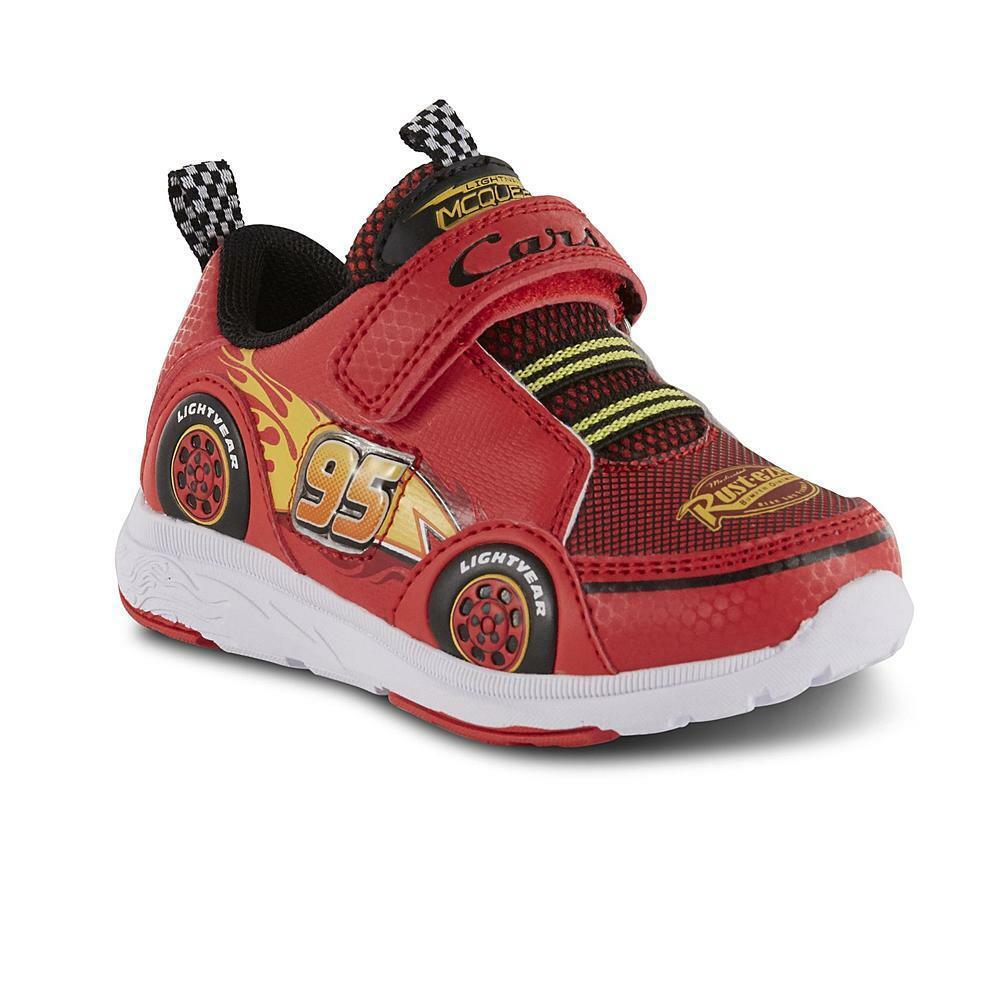 Disney Toddler Boys' Cars Lightning McQueen Sneakers Shoe, SZ:6,7,8,9,10,11,12