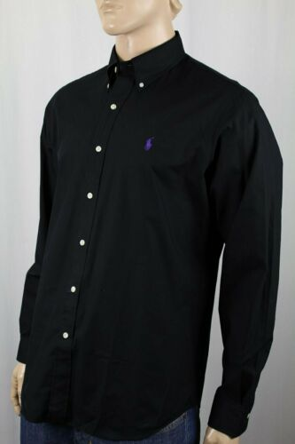 Ralph Lauren Black Button Down Classic Fit Dress Shirt NWT