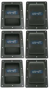6 black metal speaker cabinet bar handles for pa dj guitar bass guitar cabinets ebay. Black Bedroom Furniture Sets. Home Design Ideas