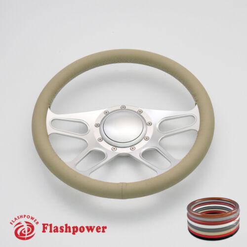"""14/"""" Billet Steering Wheel Full wrap Chevrolet Monte Carlo Camaro Cutlass w// Horn"""