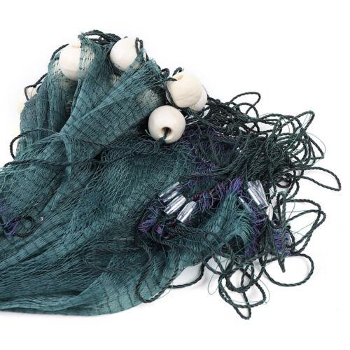 10x65FT Fishing Drag Net Beach Seine Bait Seine Nylon Mesh Handmade Fish Net NEW