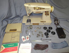 Serviced Vintage Singer Rocketeer 500 500A Cam Embroidery Sewing Machine Video