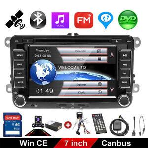 Fuer-VW-Golf-5-6-Passat-TIGUAN-TOURAN-EOS-7-Autoradio-Navi-GPS-DVD-USB-Bluetooth