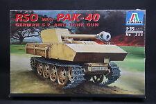XT078 ITALERI 1/35 maquette tank char 355 RSO with PAK-40 German S.P. Anti tank