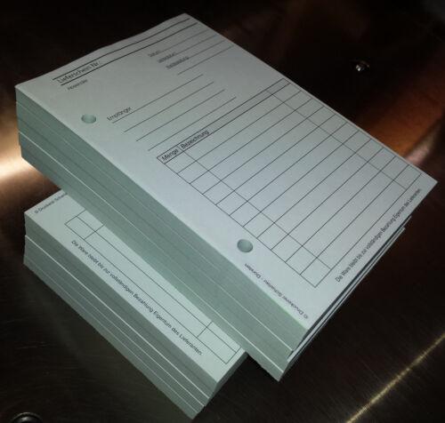 10x LIEFERSCHEINBLOCK,A5 SD gelocht 2x50 Blatt Lieferscheinformular 22430
