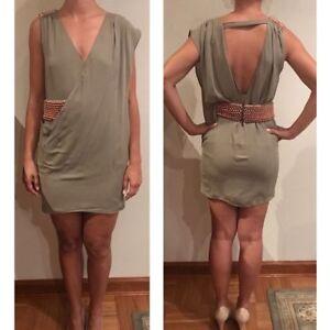 Sass-And-Bide-039-Gather-amp-Drape-039-Silk-Dress-size-US4