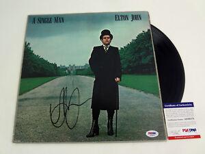 Elton John Signed Autograph A Single Man Vinyl Record Album PSA/DNA COA