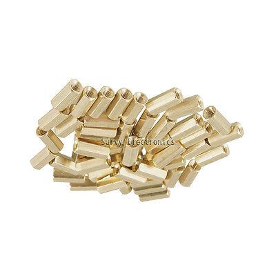 50pcs M3 12 mm Hexagonal net nut Female brass Standoff/Spacer New Good Quality